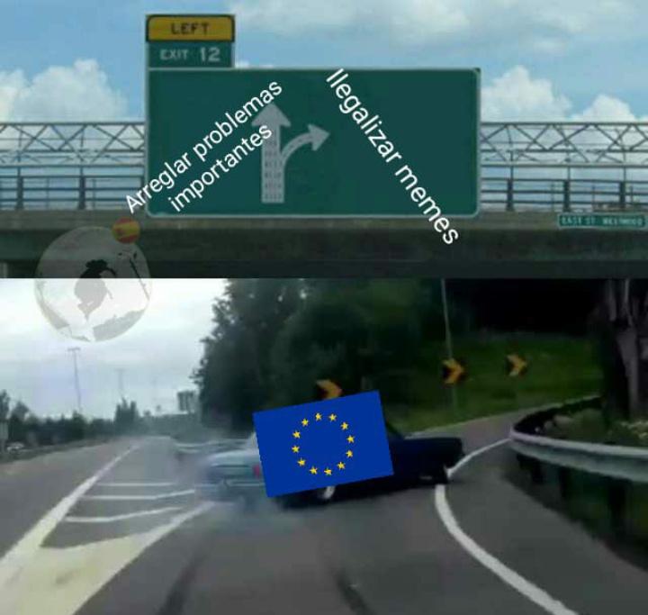 El título tiene Copyright - meme