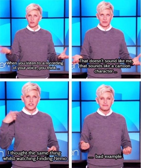 Not so relatable, Ellen... - meme