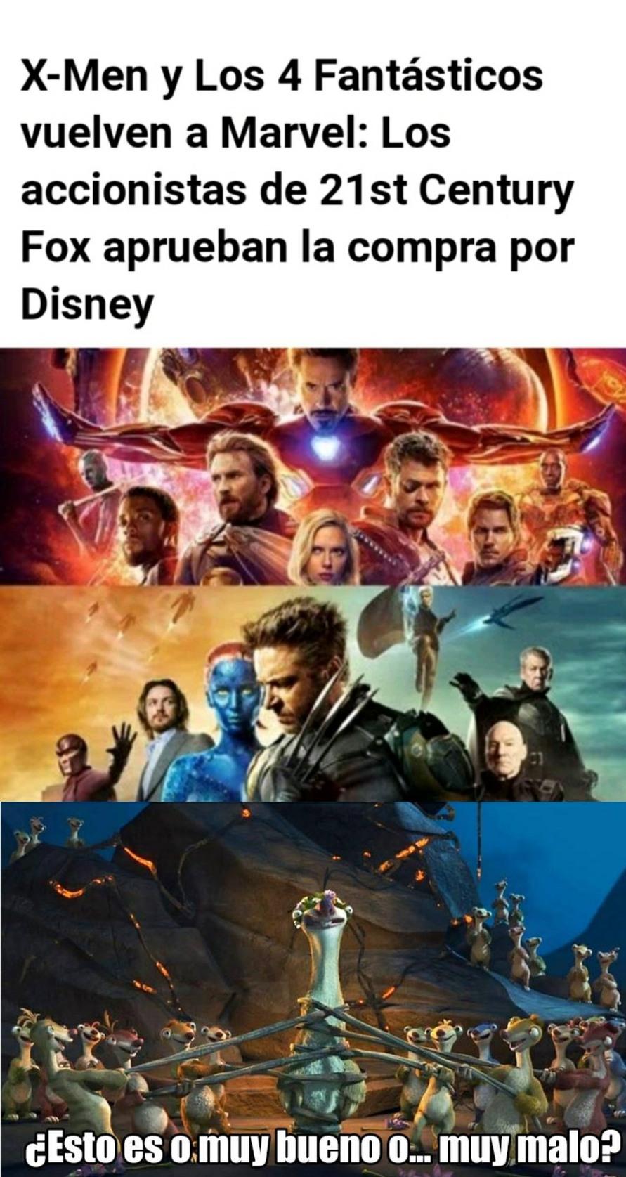 Marvel se une finalmente - meme