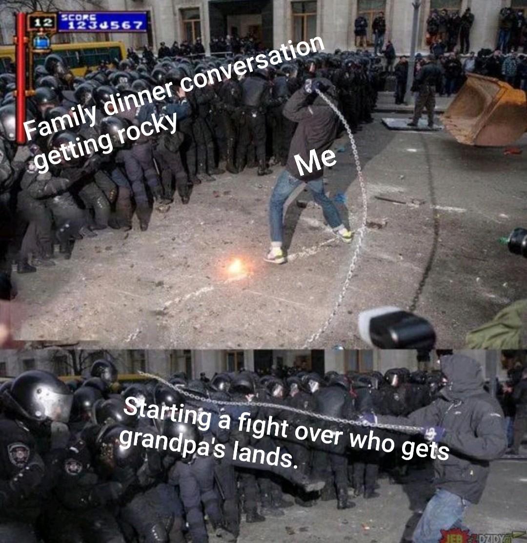 Ongoing dispute - meme