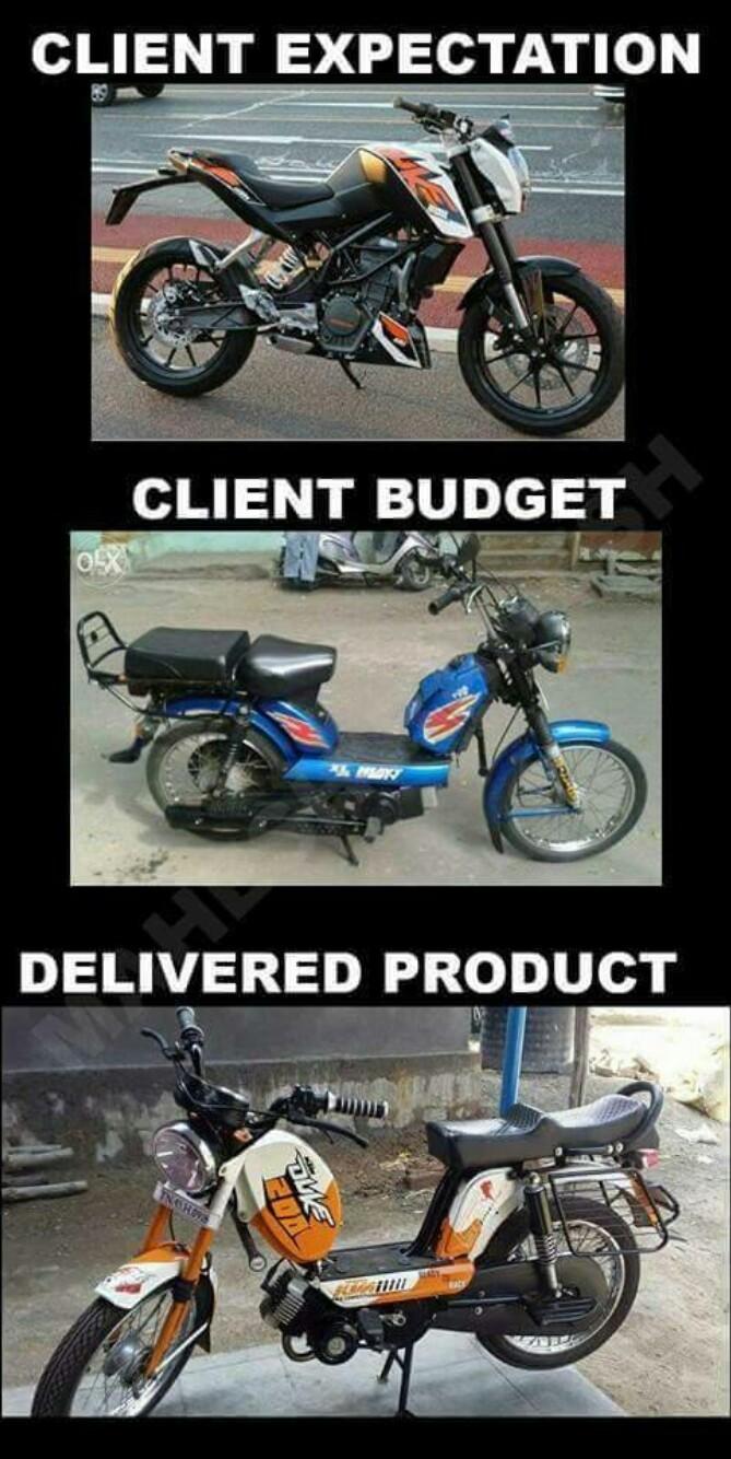 bike for poor - meme