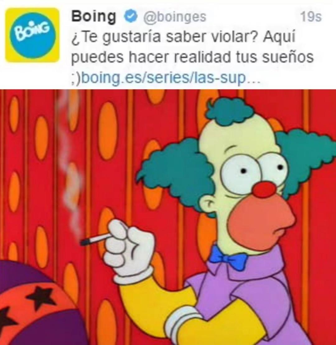 Boing es un canal de caricaturas o dibojos animados - meme