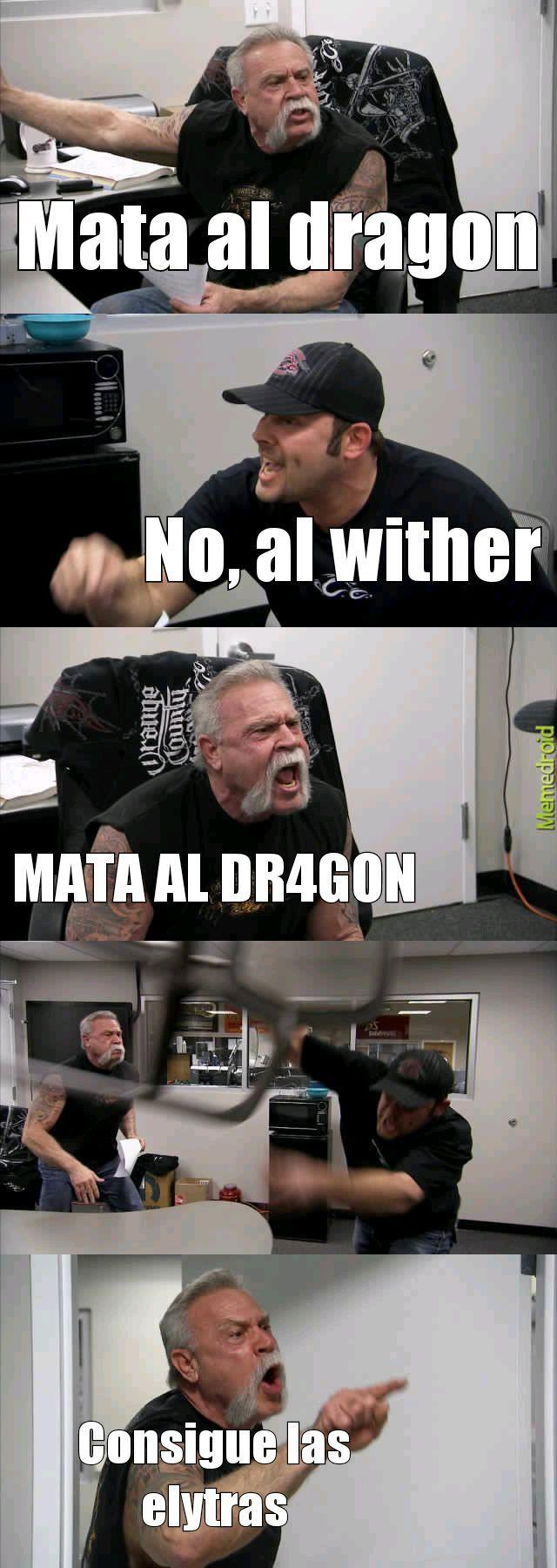Minecraft y los que les gusta matar primero al wither - meme