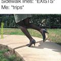 sidewalk vs lines