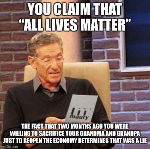 all lives matter, kind of - meme