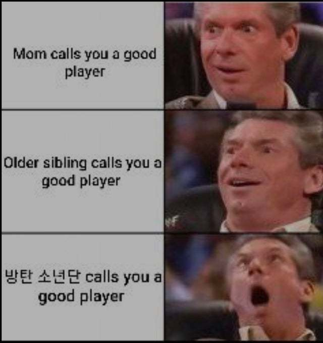 We think you are a good player - meme