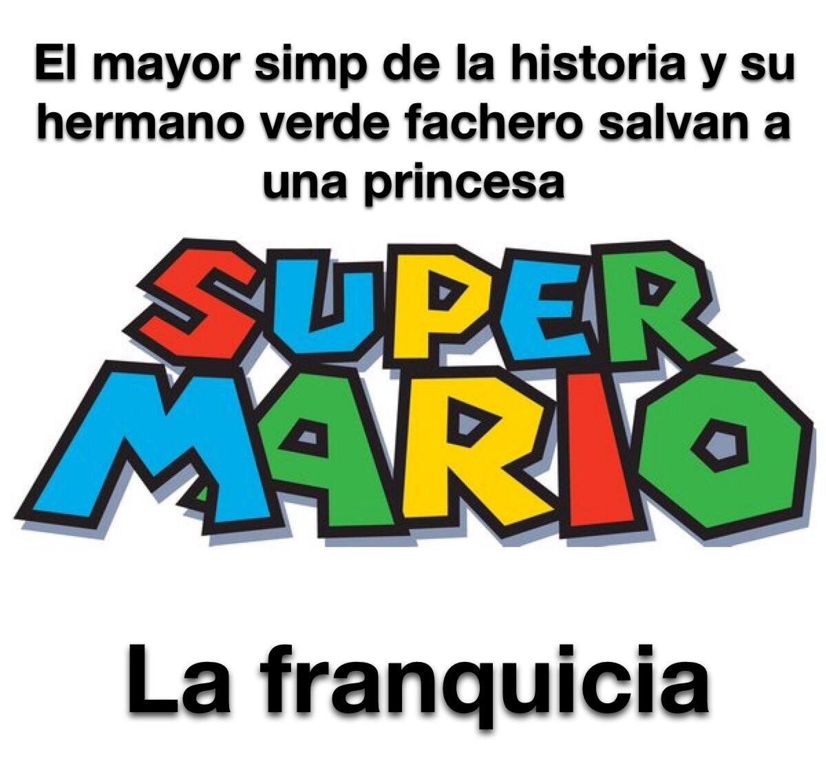 tremendo simp el Mario - meme