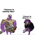 thanos is a poof arse in this series