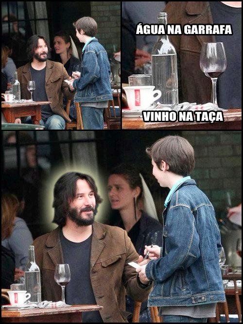 Keanu Reeves é Jesus - meme
