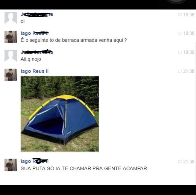 só pra acampar - meme