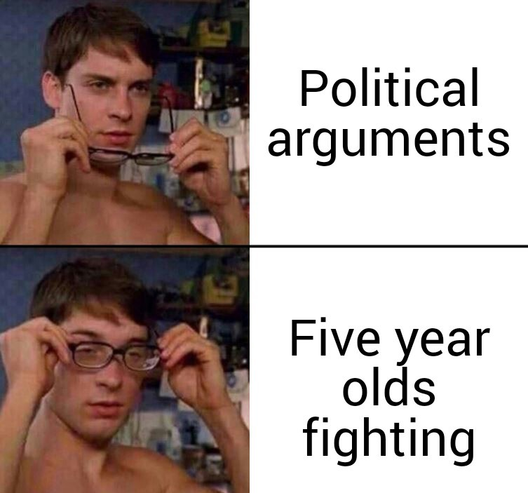 Five year olds fighting - meme