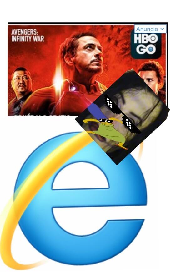 Internet explorer 2019 - meme