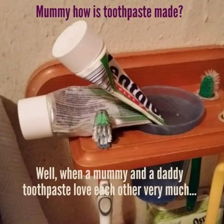 Toothpaste love - meme