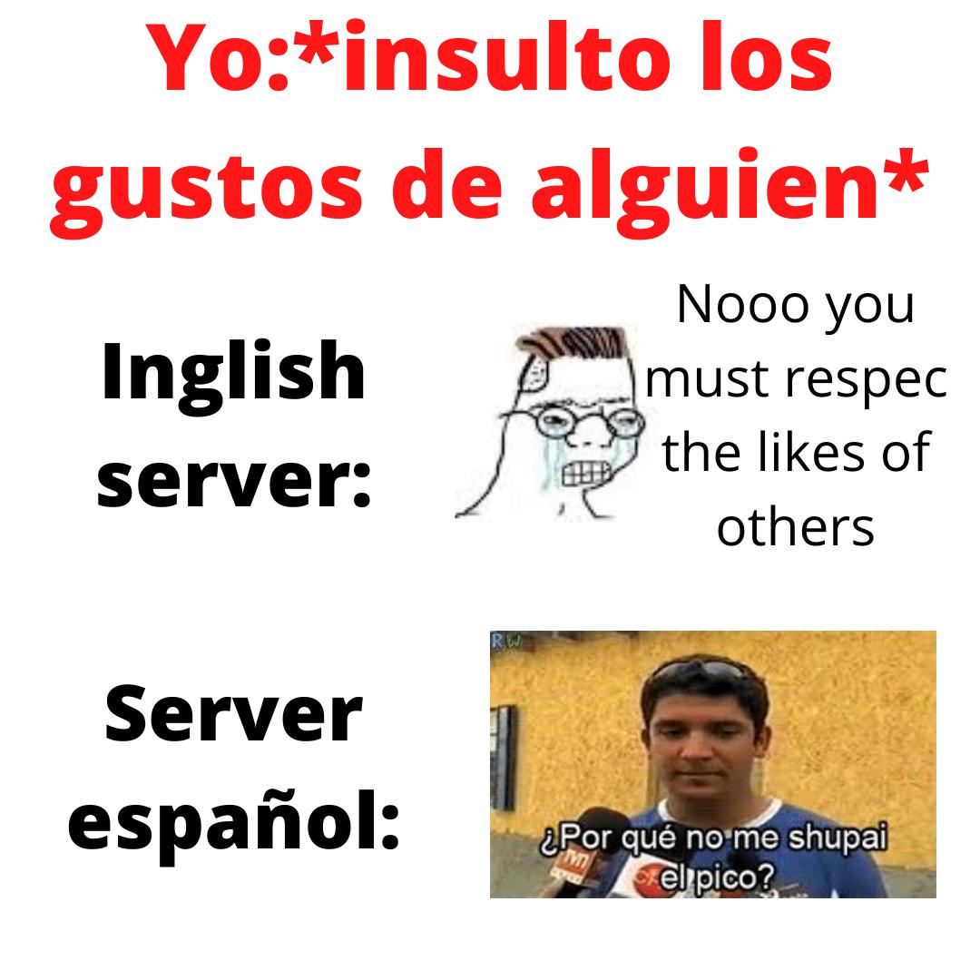 el server ingles es mierda - meme