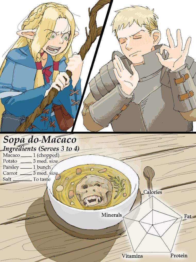 Sopa de macaco uma delícia - meme