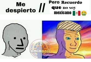 me despierto... pero recuerdo que no soy mexicano (bait) - meme