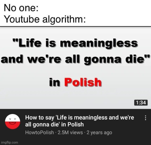 It's hit or miss in my recommended - meme