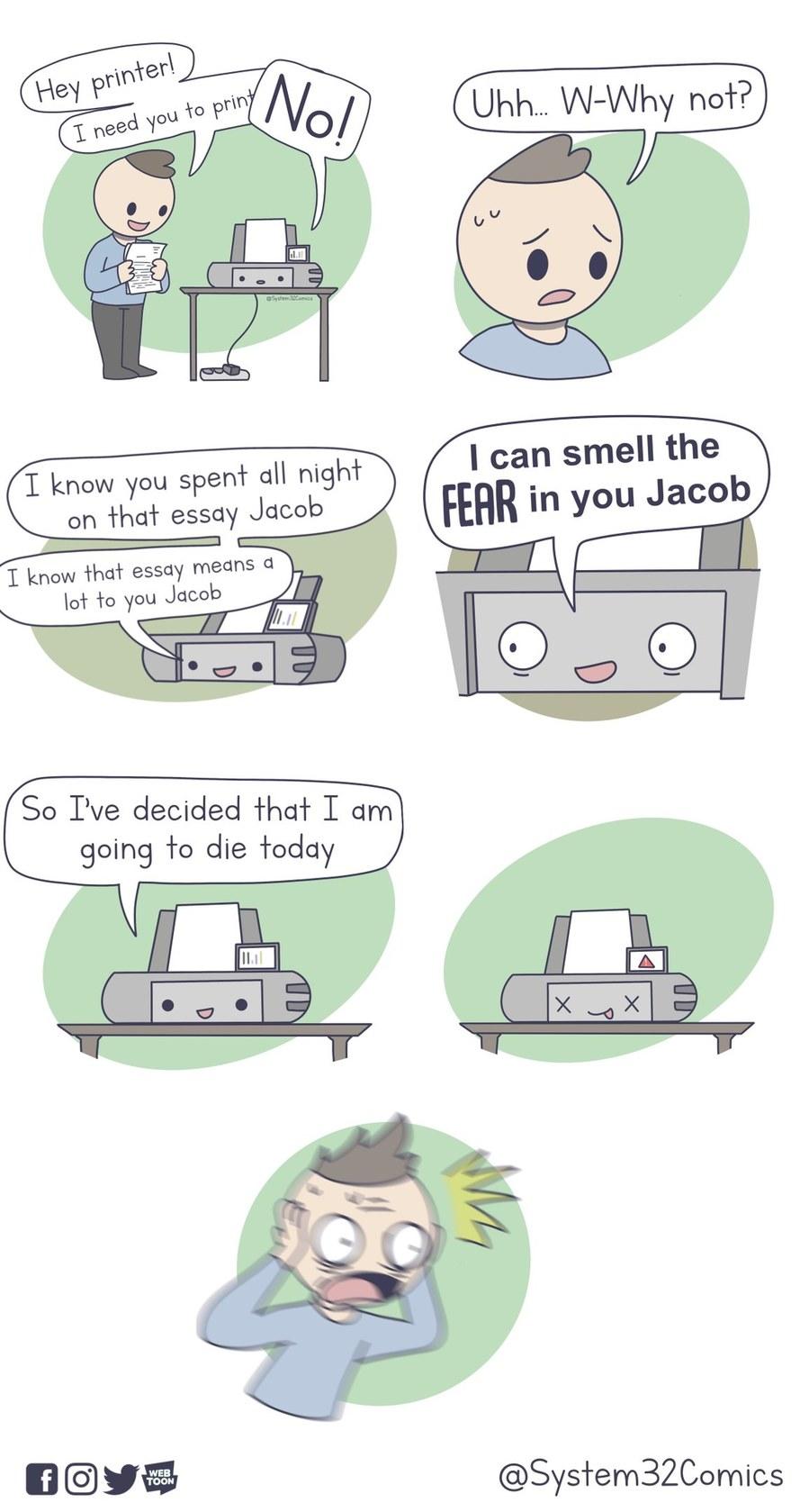 Printer Death - meme
