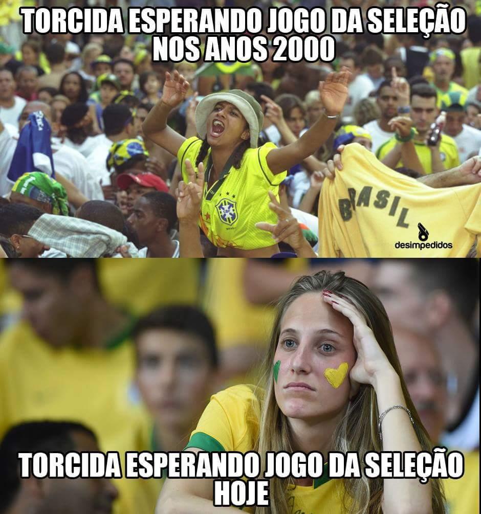 Saudades da antiga seleção brasileira - meme