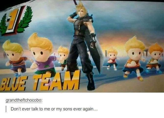 Cloud is my favorite smash character - meme