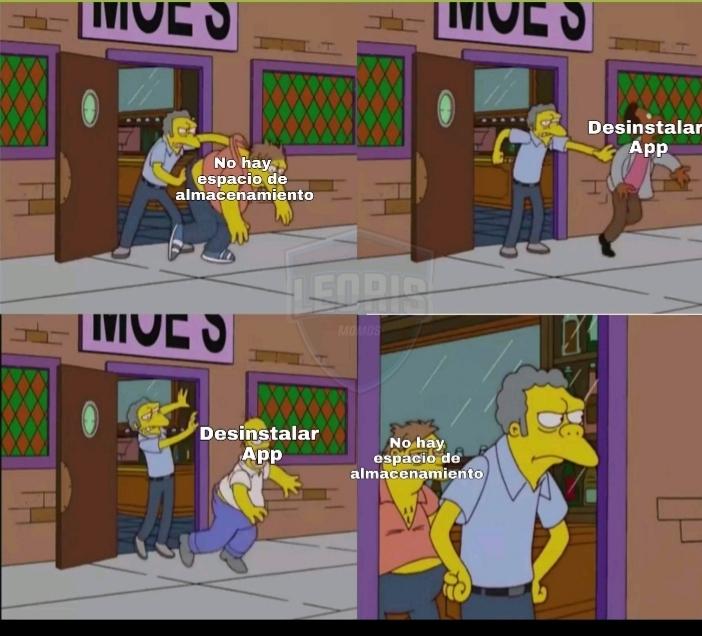 Y dale con el movil - meme
