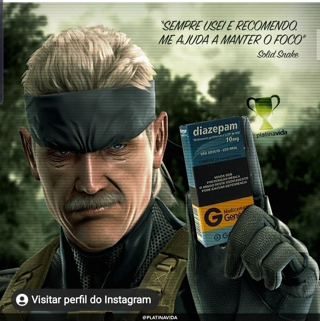 Solid Snake recomenda! - meme
