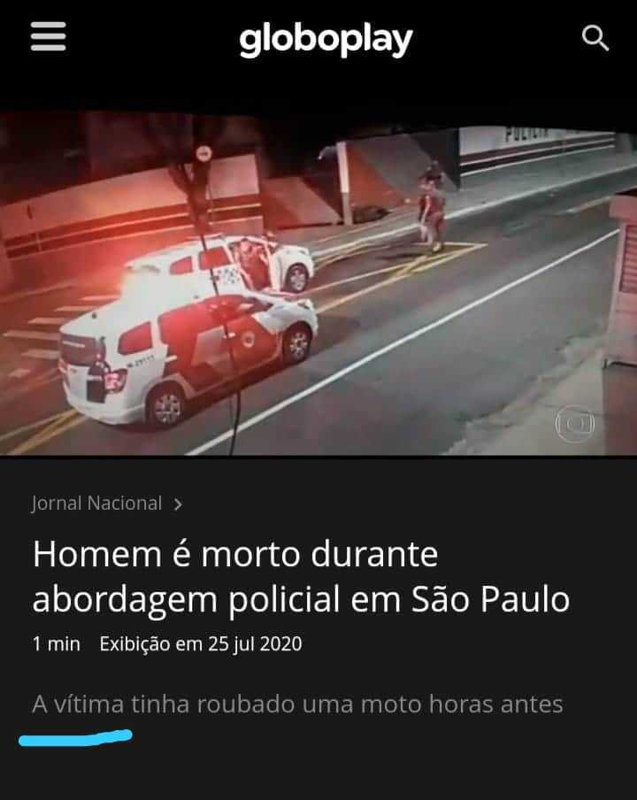 Título é vítima da polícia - meme