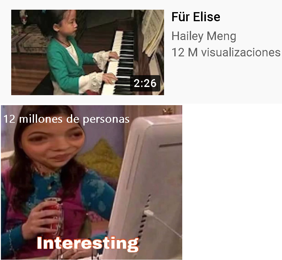 Que interesting el Für Elise - meme