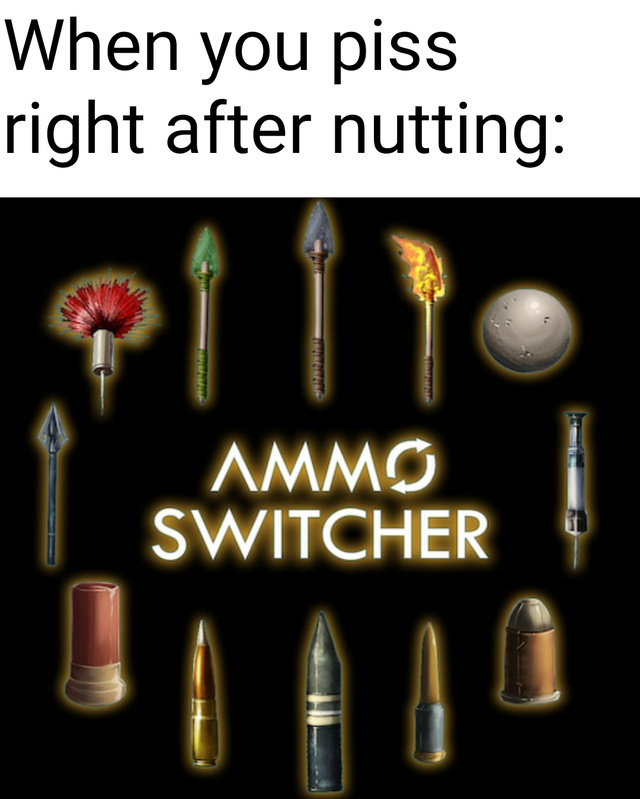 I got even more ammo just out the back - meme