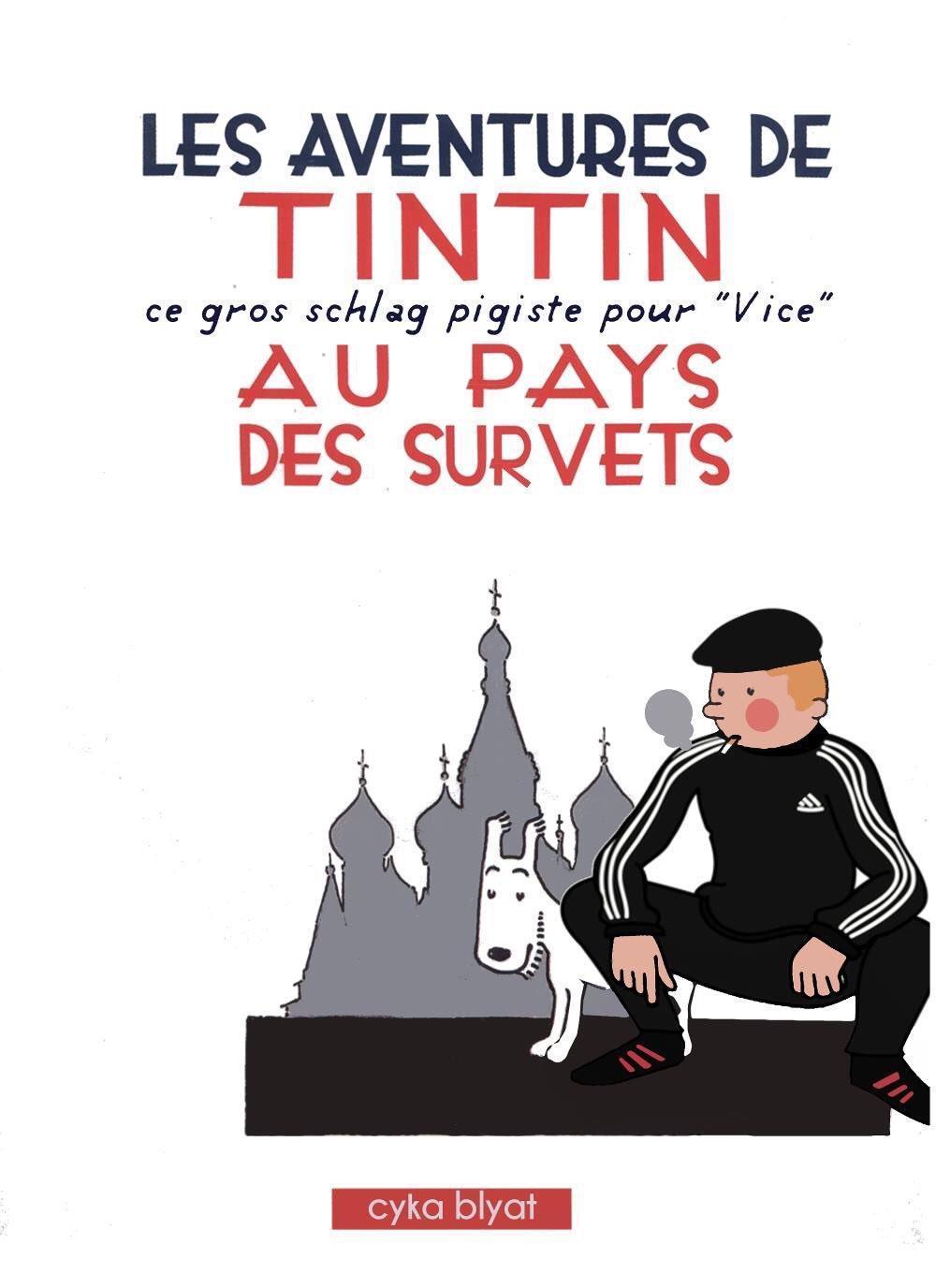 Tintin en gopnik - meme