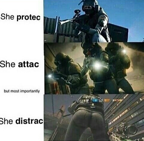 she also thicc - meme