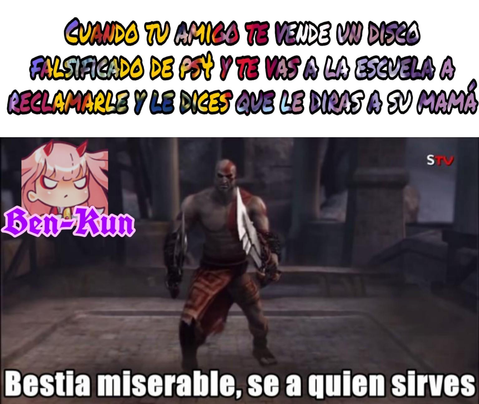 Todos sabemos que la Zero Two de mi marca de ahua es mas fuerte que el mismo Kratos - meme