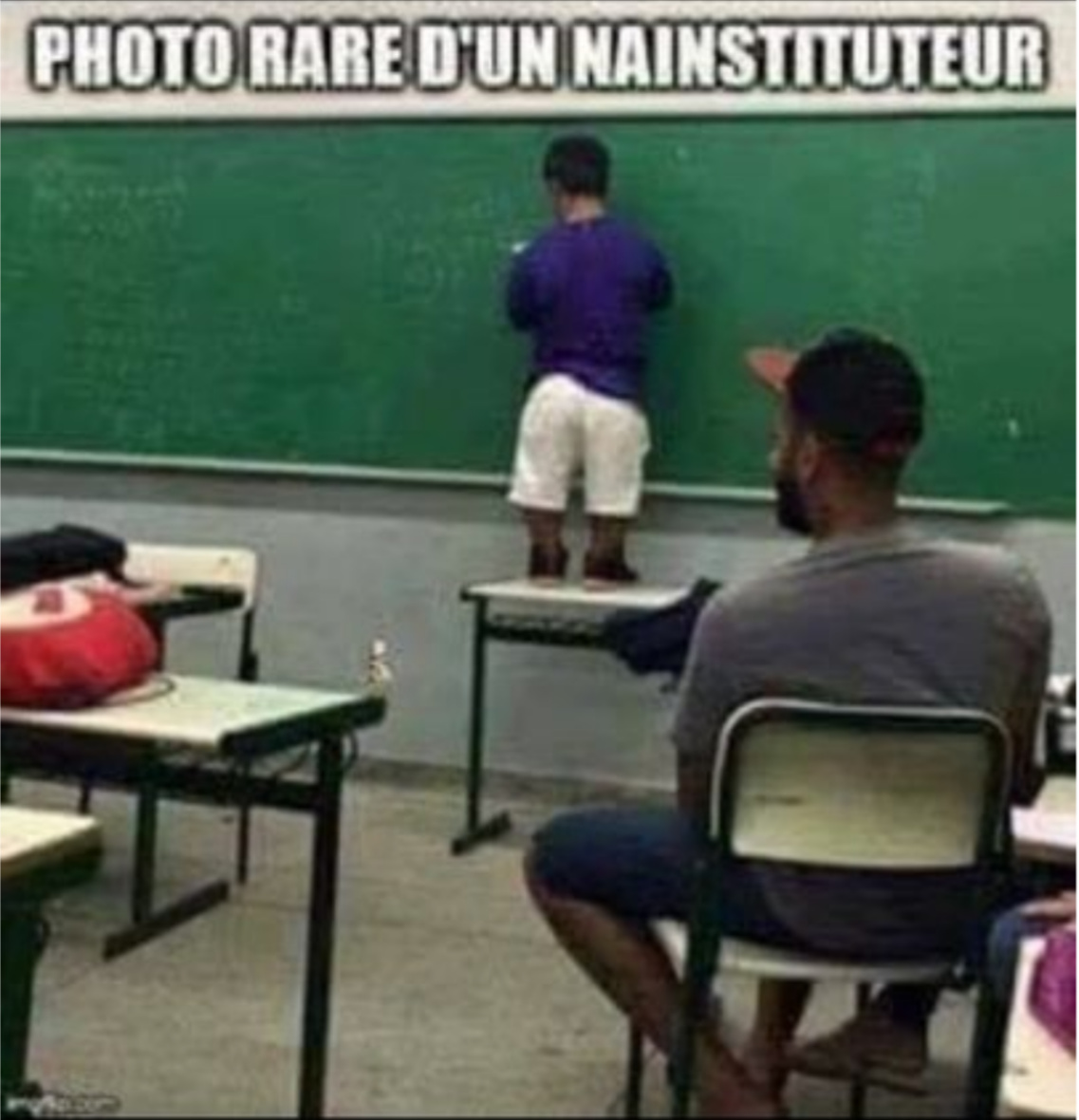 Photo rare d'un nainstituteur - meme