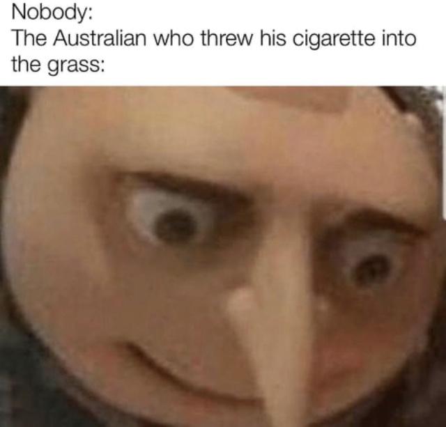 Australia is dead - meme