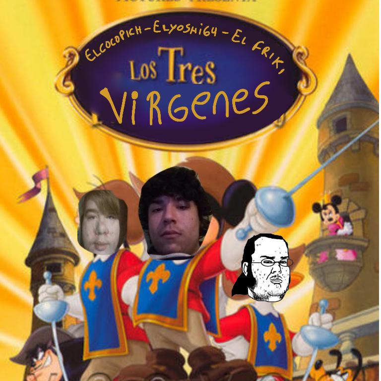 Los tres virgenes - meme