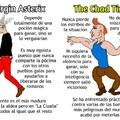 Mi primer Virgin vs Chad editado en Photoshop (alto capo el Tintin)