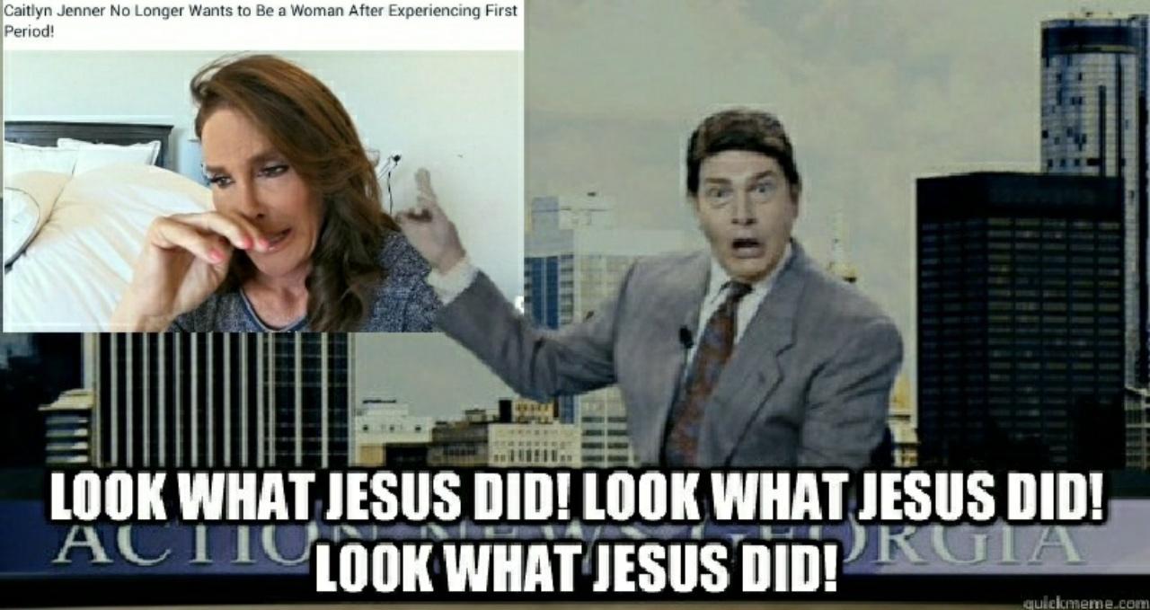Look what Jesus did - meme