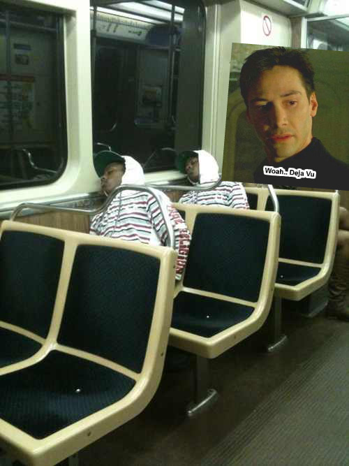there's a glitch in the matrix.. that means they changed something - meme
