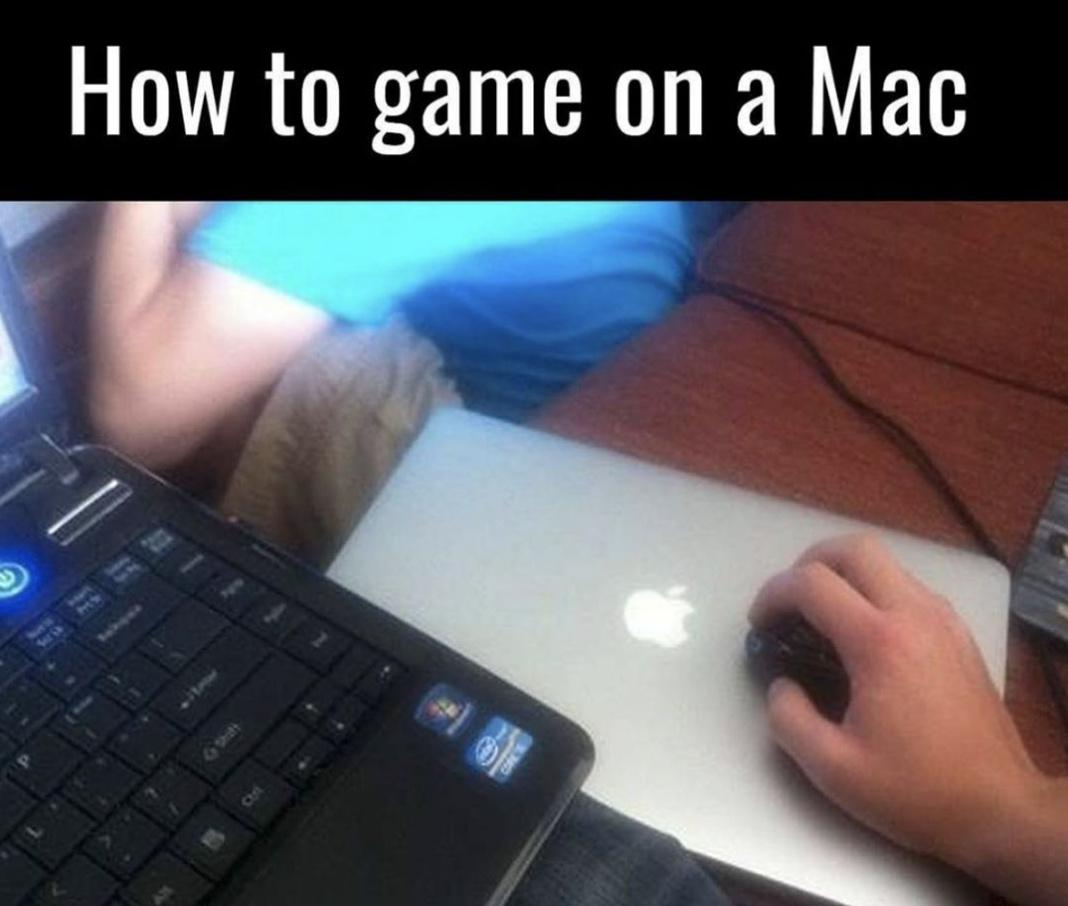 Mac gaming - meme
