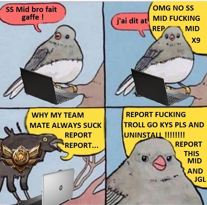 SS signifie qu'un adversaire n'est plus visible - meme