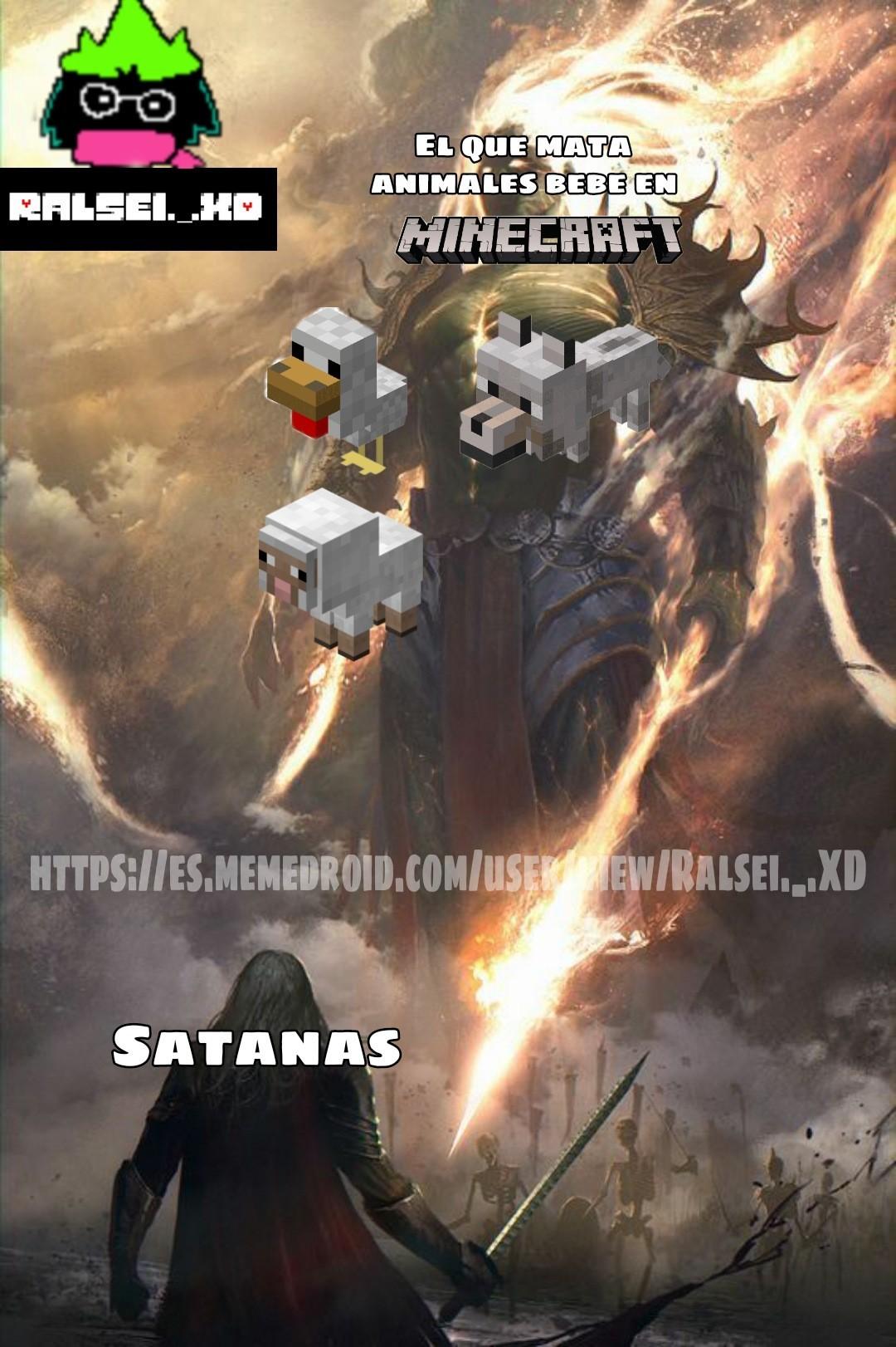 El titulo esta jugando minecraft - meme
