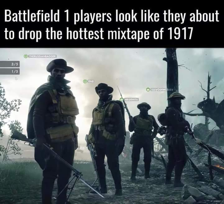 Hottest mixtape in 1914 - meme