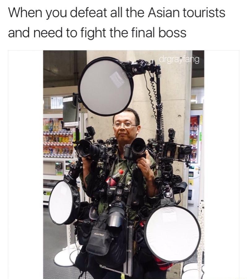 Final Tourist Boss - meme