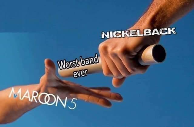 Nickelback vs Maroon 5 - meme