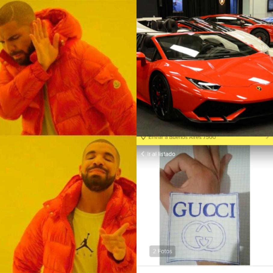 Papel GUCCI #2 - meme
