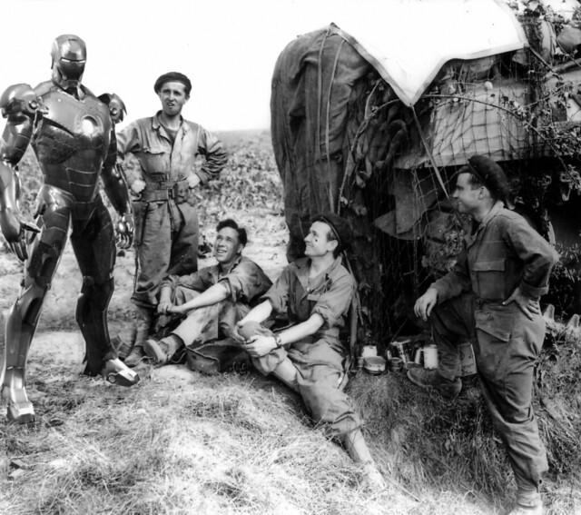 Como olvidar cuando Ironman estuvo en la Segunda Guerra Mundial - meme