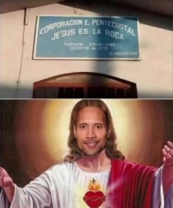 La roca El Salvador - meme