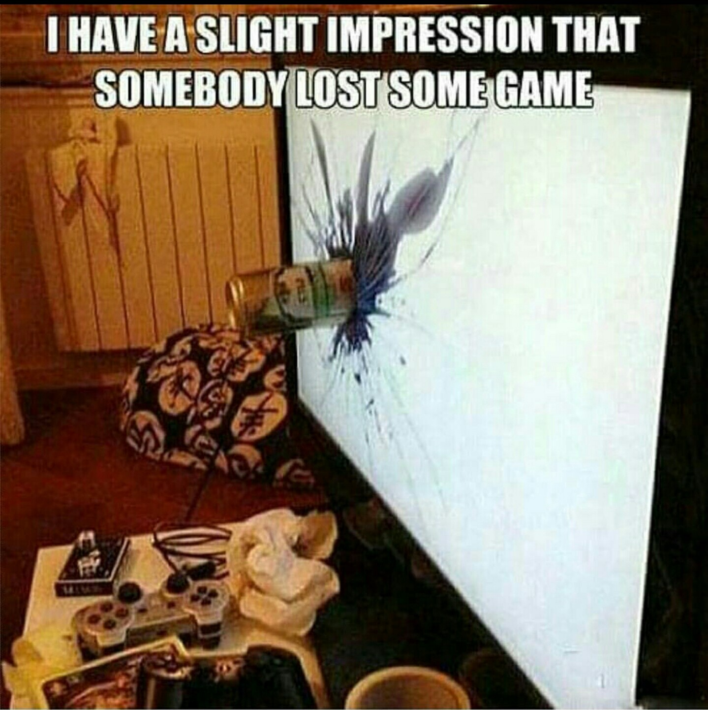 Angry gamers be like - meme