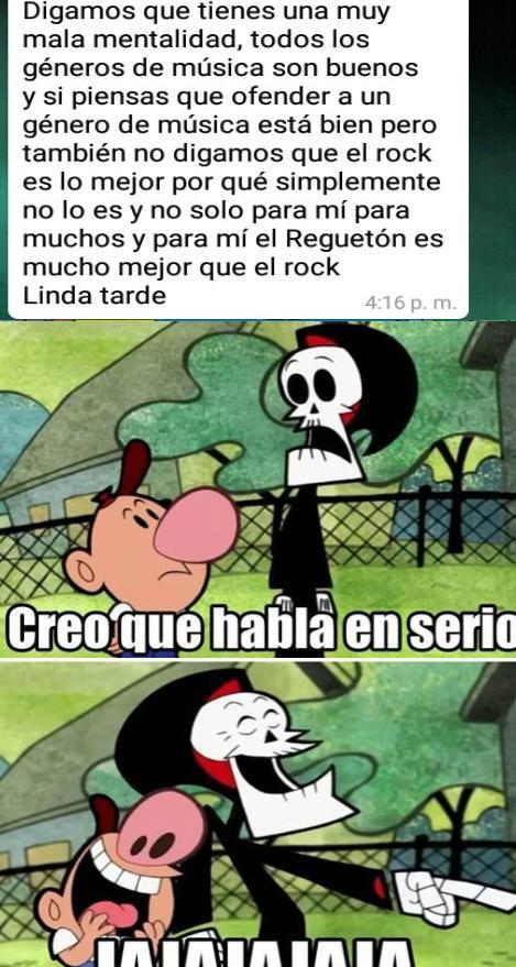 había insultado el reggaetón - meme