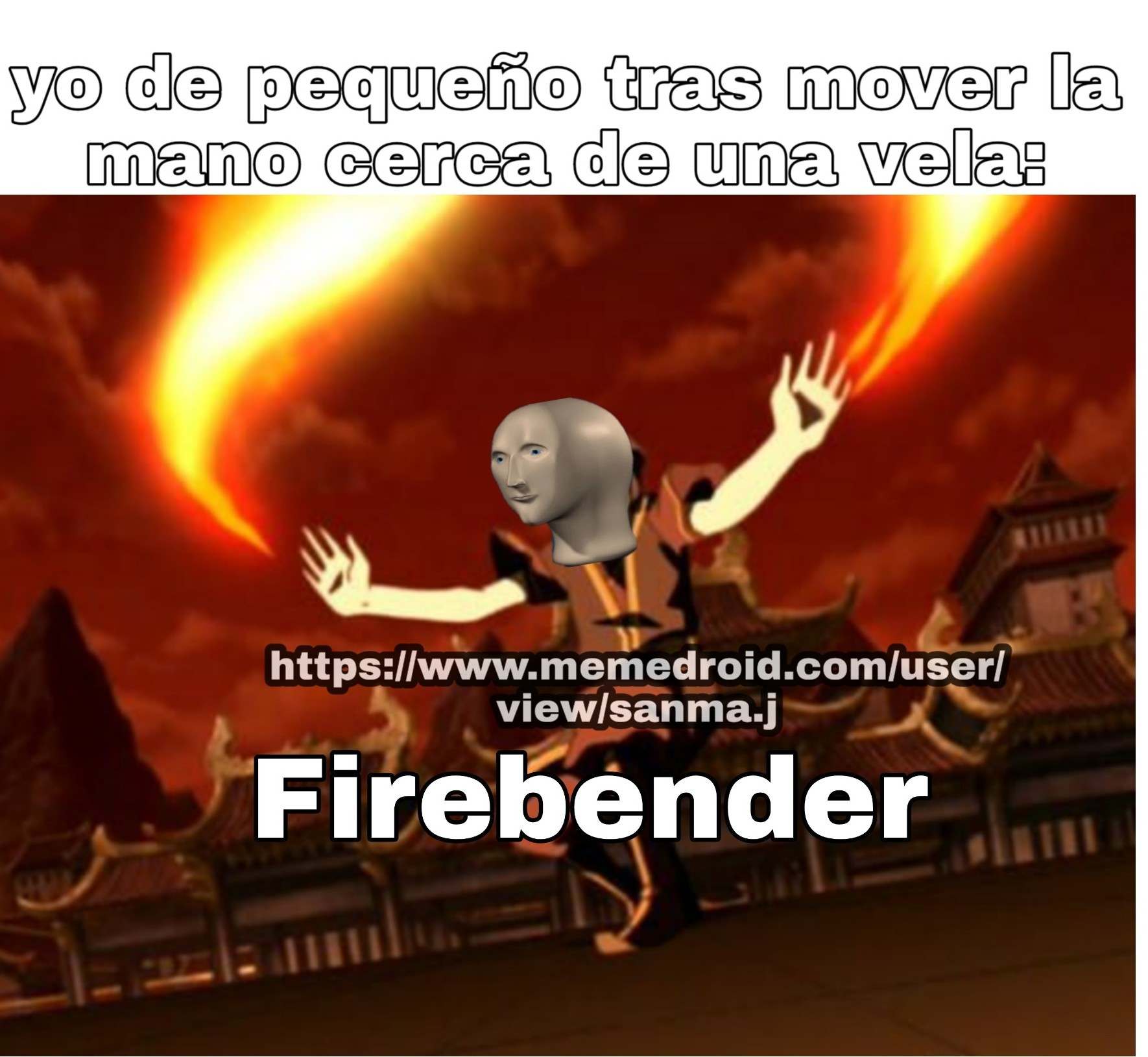 Agua, tierra,fuego, aire - meme